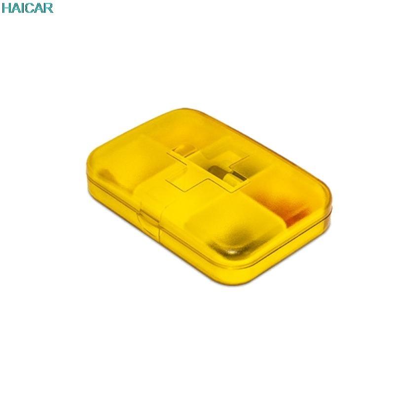 Мини 6 слотов Портативный Спецодежда медицинская pill коробка для хранения лекарственных комплекты Дело Организатор леверт челнока mar3