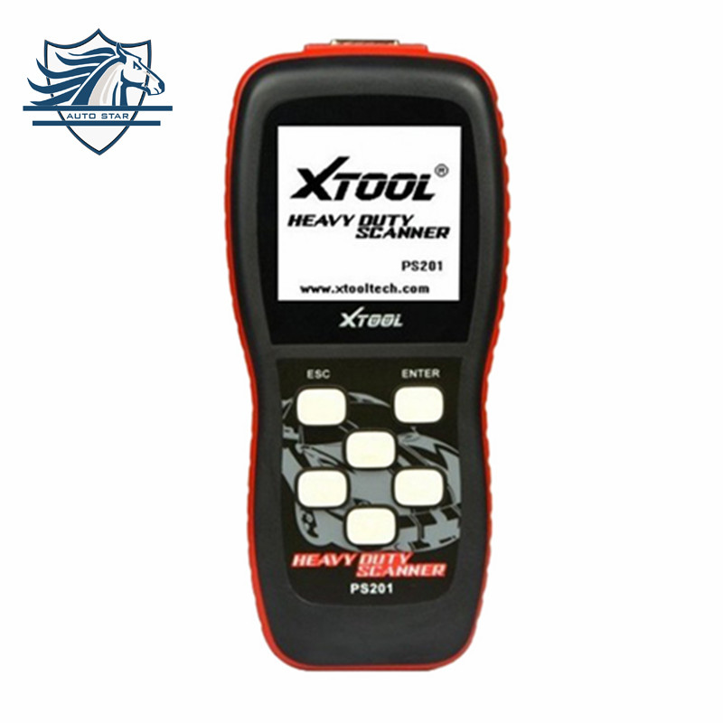 Top XTOOL PS201 Heavy Duty CAN OBDII Code Reader Gasoline and Diesel OBD2 Scanner Professional Heavy Duty Truck Diagnostic tool