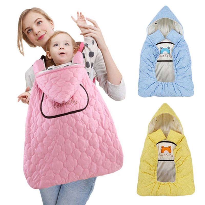 New Warm Wrap Sling Baby Winter Carrier Windproof Baby Backpack Blanket Carrier Cloak Grey Funtional Cover As Christmas gifts
