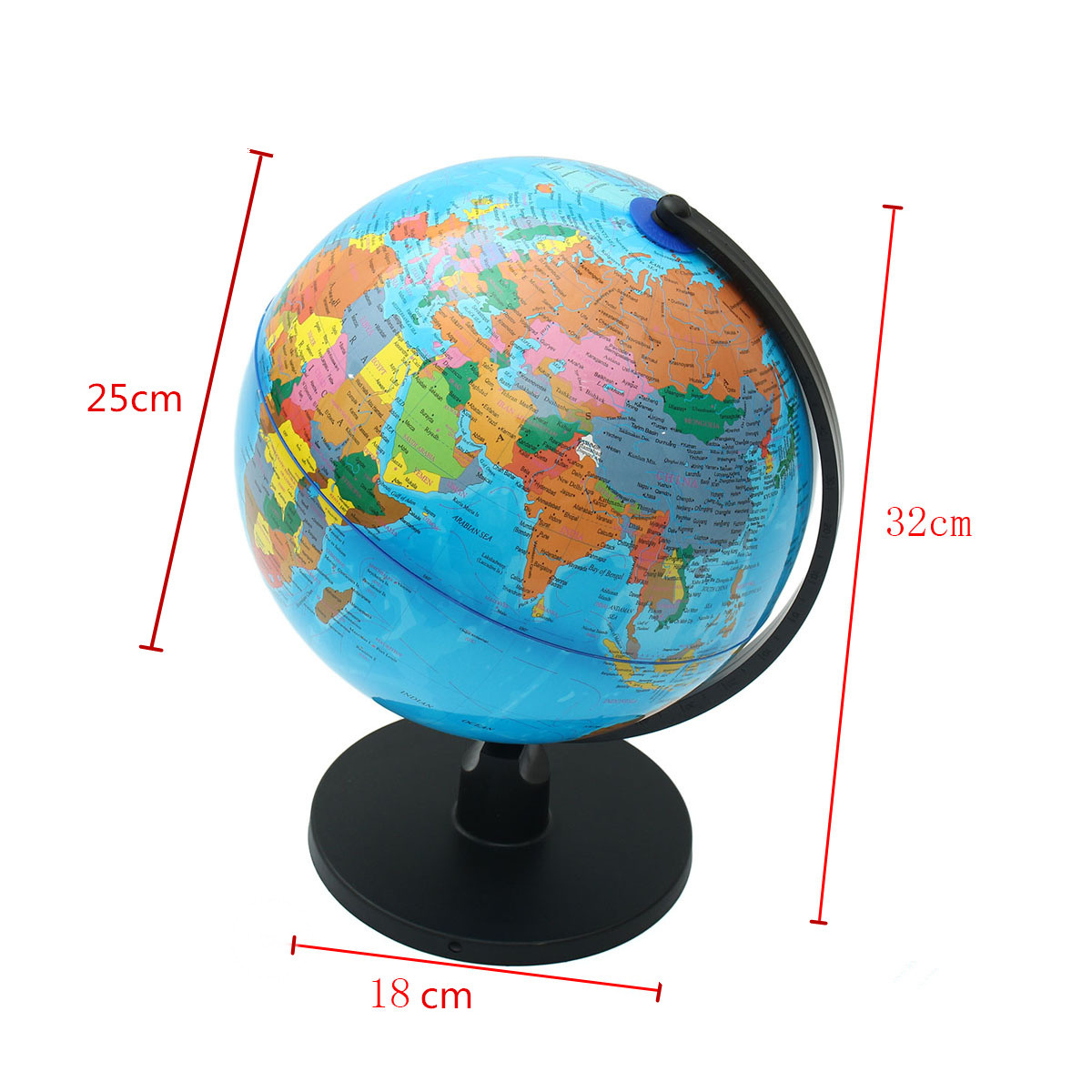 25cm english world globe map with stand educational earth geography 25cm english world globe map with stand educational earth geography study tool home office desktop decorative globe ball gifts in figurines miniatures gumiabroncs Image collections