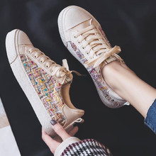 Mixed Colors Casual Canvas Shoes Women Flats Sneakers
