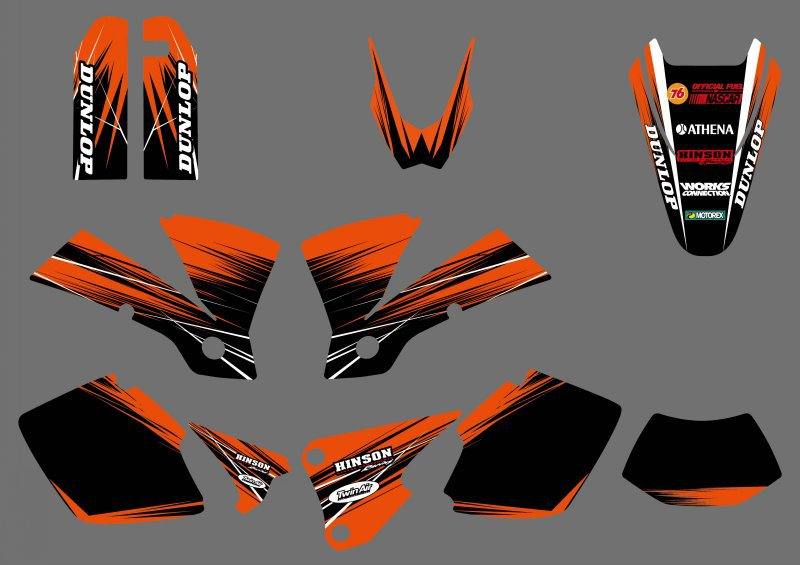 NICECNC Motorcycle Decal And Sticker For KTM EXC 125 200 250 300 400 450 525 2003 1 Sets Complete 3M Matching Graphic Decals Kit ufo complete body kit oem ktm