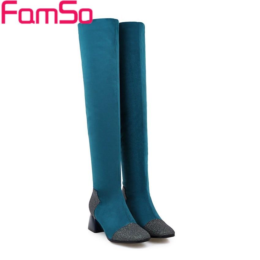 Big Size 34 43 2016 New Fashion font b Women s b font Boots Black blue