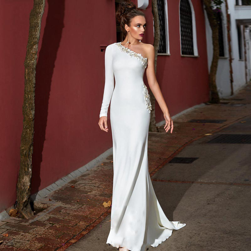 Sweep Train Country Formal Bridal Gowns (1)