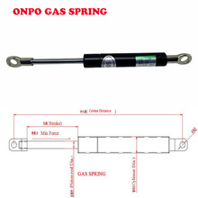 ONPO 50N/80N/100N Gas spring  Pneumatic damper bar OD:15MM Air spring stroke 40-60mm,Center Distance:150mm for Automatic Door цена