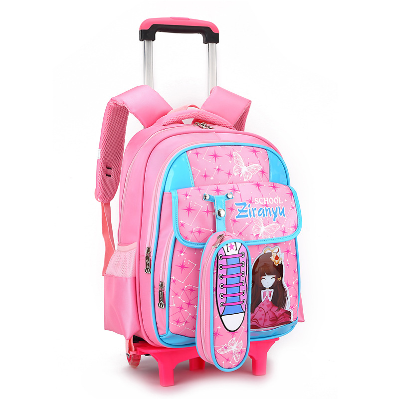 Children Trolley Backpack School Bags For Grils boys Wheeled Bag Student Detachable Rolling Backpacks Women travel bag Mochila children trolley backpack school bags boys grils wheeled bag student detachable kids school rolling backpacks travel bag mochila