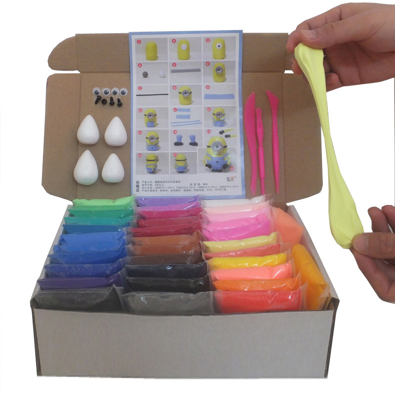 36 Colours Clay Slime DIY Modeling Clay Fluffy Plasticine