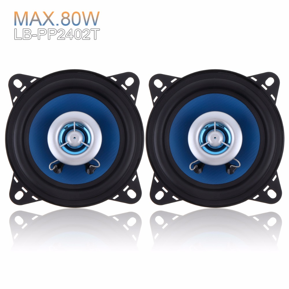 2pcs Durable 4 Inch 80W 88dB 80W High End Car Coaxial Speakers 2 Way Car Audio