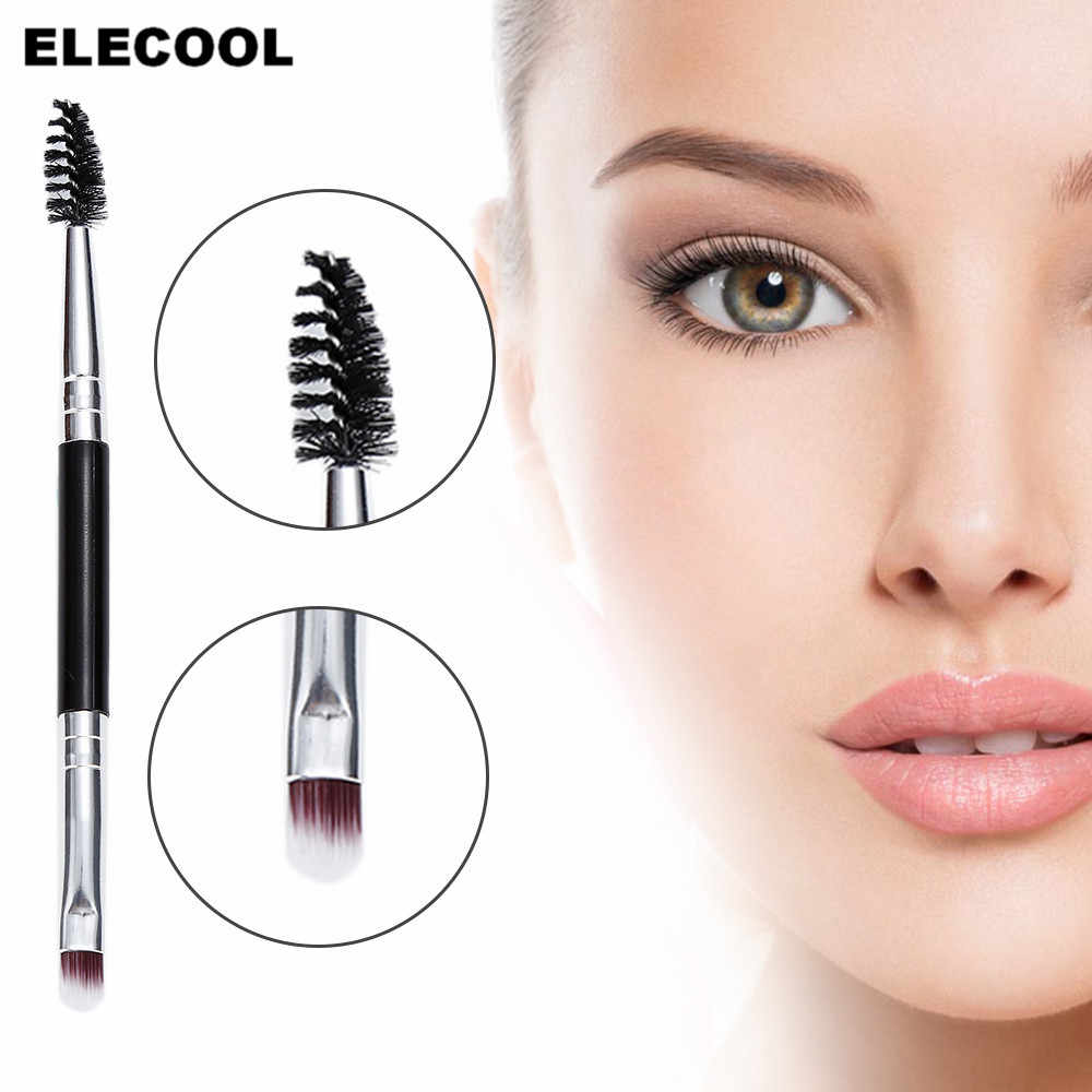 Professional 1PCS Double Eyebrow Brush+Eyebrow Comb Cosmetic Makeup Beauty eyebrow makeup brushes beauty essentials U