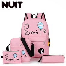 Women 4 Pcs/set Printing Canvas Backpacks School Bag For Teenagers Girl Boys Backpack Bags Unisex Student Backpack Book Bags недорого