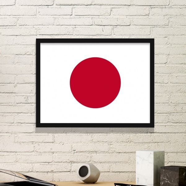 Japanese Style Japan Culture National Flag Umbrella Abstract Brush Painting Picture Frame Art Prints Paintings Home Wall Decal