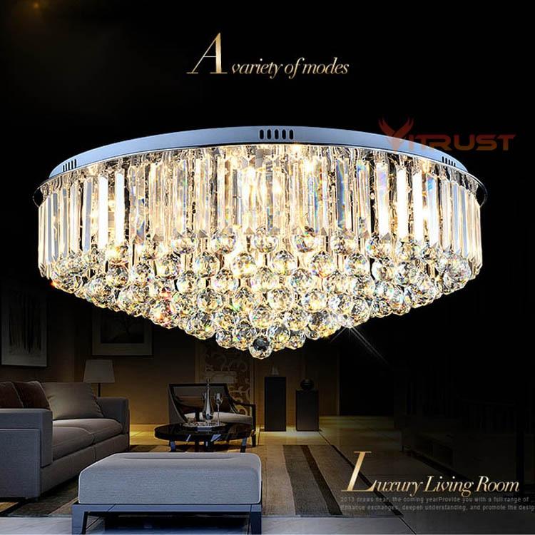 Luxury Crystal Chandeliers Ceiling Lamp Lighting Lustre Simple Atmospheric Sitting Room Crystal Ceiling Light Fixture luxury big crystal modern ceiling light lamp lighting fixture