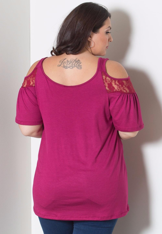 HTB1brOFKFXXXXaHapXXxh4dFXXXx - Off Shoulder Summer Tops Short Sleeve Lace Patchwork Loose