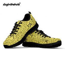 Doginthehole Sports Shoes Women Math Pattern Sneakers Mesh Breathable Female Outdoor Walking Footwear Harajuku Zapatillas