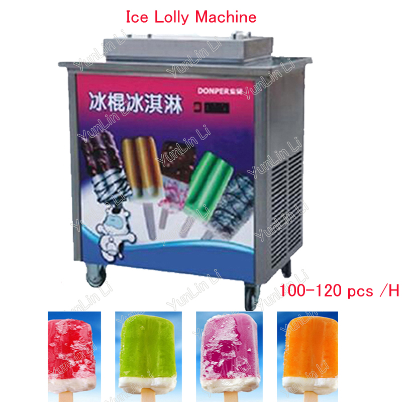 100-120pcs/h Commercial Ice Lolly Maker Ice Cream Mold Machine Ice Cream Lolly Machine Frozen Ice Lolly Maker ZX40A стоимость