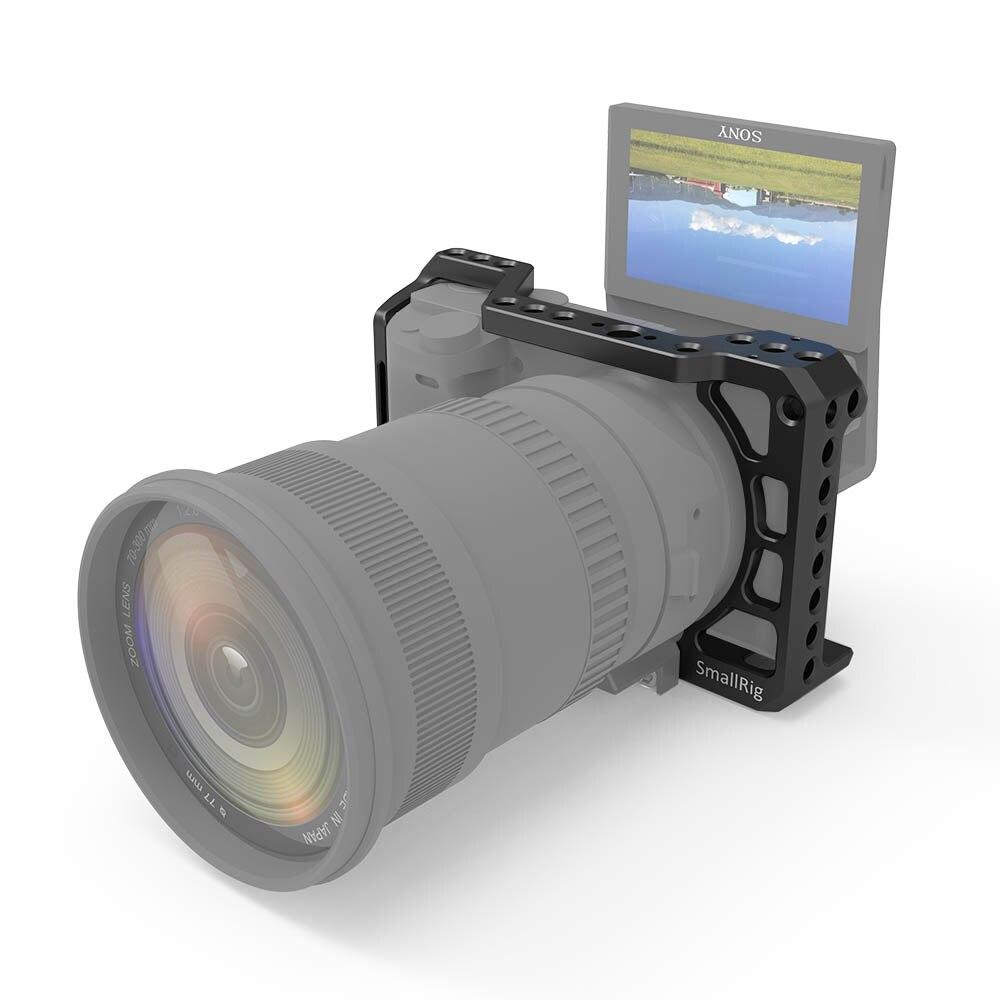 SmallRig cage caméra pour Sony A6400 caractéristique avec 1/4 3/8 Fil Trous pour Bras Magique Microphone bricolage Joindre 2310