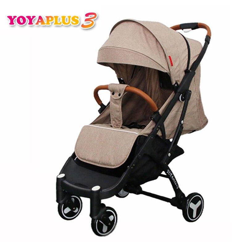 2019 YOYAPLUS 3 luz carrinho de bebê guarda-chuva dobrável portátil ultra-leve de carro pode sentar pode mentir sobre o avião