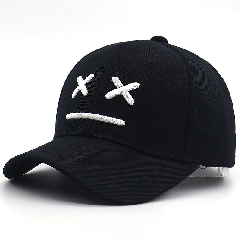 Sad Boy Baseball Cap For Kids Cotton Adjustable 3D Embroidery Bone Kids Caps Sad Face Hip Hop Snapback Hat For Little Boys Girls
