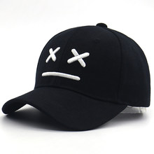 3c3d5f6c20d6 Sad boy baseball cap for kids cotton adjustable 3D embroidery bone kids caps  sad face hip hop snapback hat for little boys girls