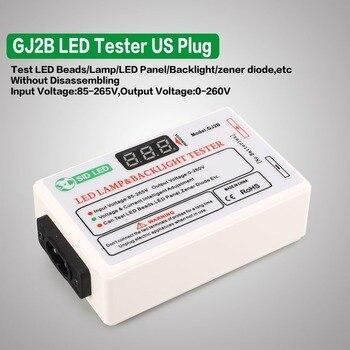 Gj2b 전압 led lcd tv 화면 백라이트 제너 다이오드 테스터 미터 램프 스트립 비드 라이트 보드 테스트 도구 출력 0 ~ 260 v 미국 플러그
