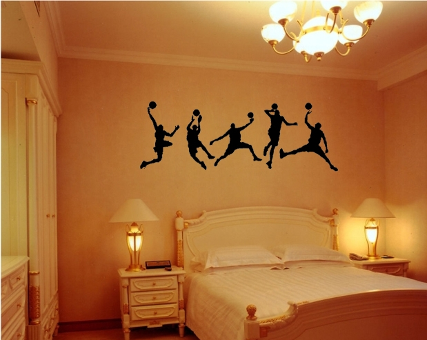 Play Basketball Sport Living Room Kid Bedroom Decor Mural Wall Decal Sticker Size 126*44cm