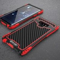 Heavy Duty Híbrido Resistente Armadura Case para Samsung Galaxy Note 9 8 S10 Além De Fibra De Carbono de Proteção integral À Prova de Choque À Prova D' Água caso