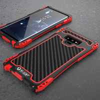 Heavy Duty Hybrid Rugged Armor Case for Samsung Galaxy Note 9 8 S10 Plus Carbon Fiber full Protective Waterproof Shockproof case
