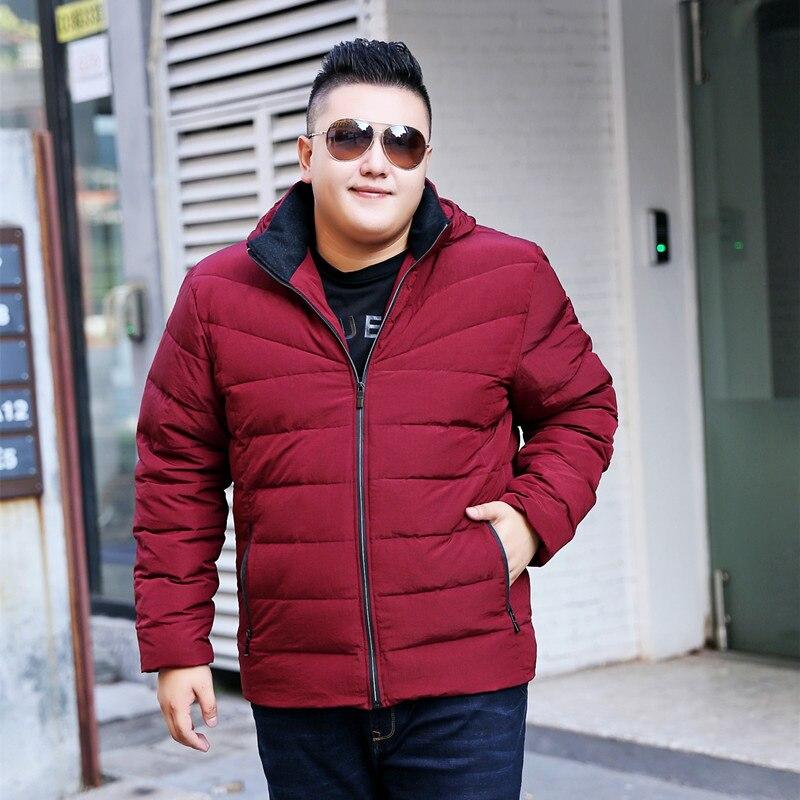 Hommes grande taille 7XL 8XL 9XL 10XL épais vers le bas manteaux hommes hiver manteau et veste hommes coupe-vent à capuche épaissir chaud hiver manteau