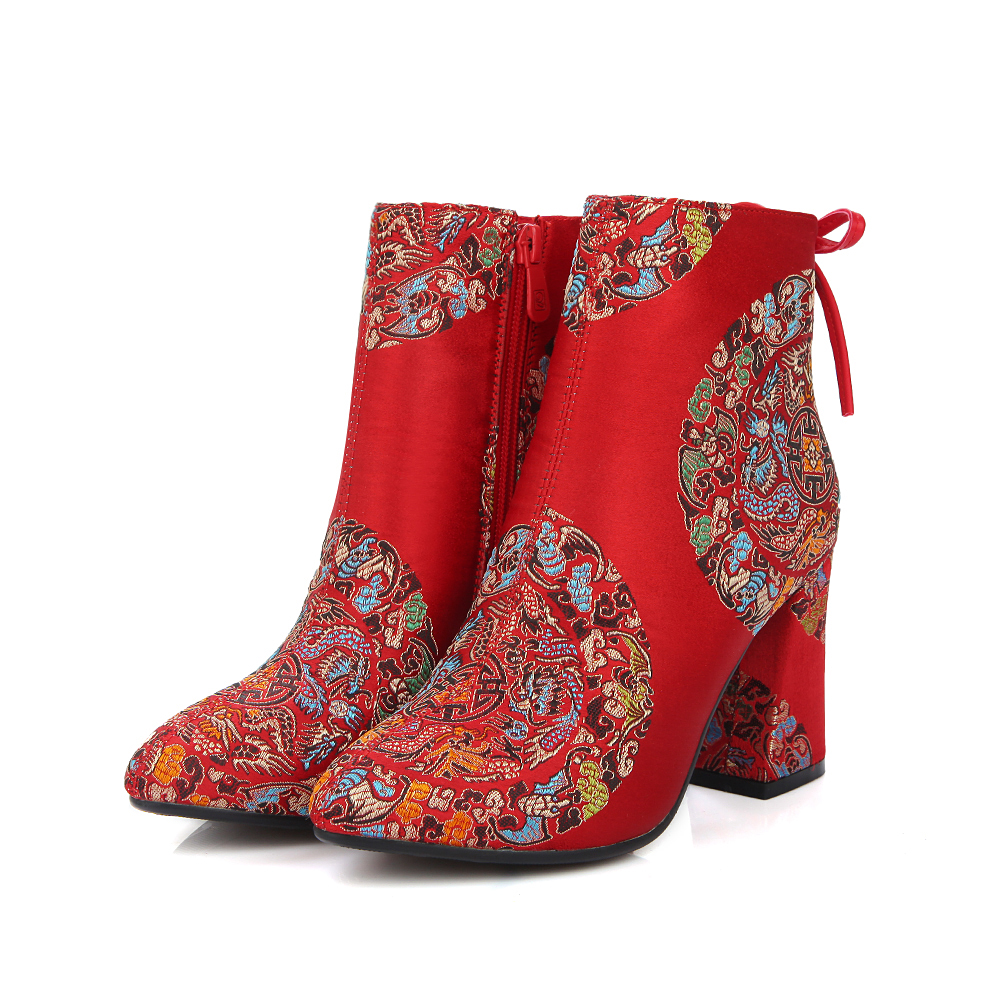 Online Buy Wholesale chunky red heels from China chunky red heels ...