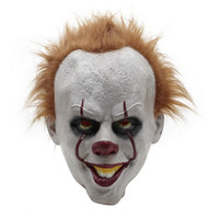 Parti Maskeleri korkutucu yüz maskesi Tam Yüz Lateks korkunç maske cadılar bayramı yetişkinler için cosplay film Palyaço geri ruhuna maske