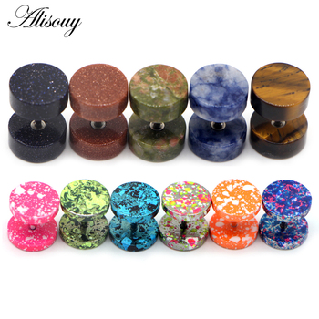 Alisouy 2Pcs New Earrings Fashion Jewelry Women s Ear Stud Barbell Piercing Punk Men Earrings 10.jpg 350x350 - Alisouy 2Pcs New Earrings Fashion Jewelry Women's Ear Stud Barbell Piercing Punk Men Earrings 10 color studs piercing