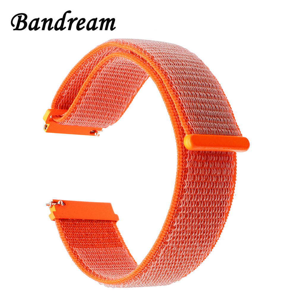 Nylon Loop Watchband for Huawei Watch GT Replacement Band Quick Release Strap Wrist Belt Bracelet Orange Black Blue Pink Green