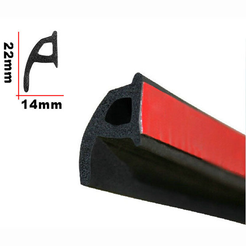 P Type Car Door Seal Strip EPDM Noise Insulation Soundproofing Anti-dust Sealing Strips Trim For Auto Car Door Edge cawanerl car sealing strip kit weatherstrip rubber seal edging trim anti noise for nissan almera march micra note pixo platina