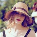 Летом женские платья шляпы Складная Соломенные Шляпы Для Женщин Пляж шляпы
