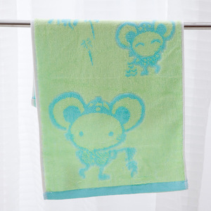 Image 5 - Bamboo Fiber Towels Weave Jacquard Small Mouse Face Towel Children Towel Water Absorption Antibacterial Environmental Protection