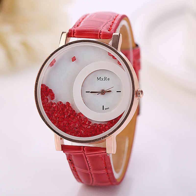 ¡Novedad de 2018! Reloj de pulsera analógico de cuarzo con diamantes de imitación para mujer