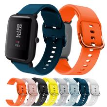 Silikonowy miękki pasek dla Xiaomi Huami Amazfit Bip BIT Lite młodzieży smart watch nadające się do noszenia na rękę bransoletka na rękę Amazfit pasek do zegarka pasek 20mm tanie tanio Pasek zegarka Uśpienia tracker Nastrój tracker Wiadomość przypomnienie Hiszpański Portugalski Francuski Wszystko kompatybilny