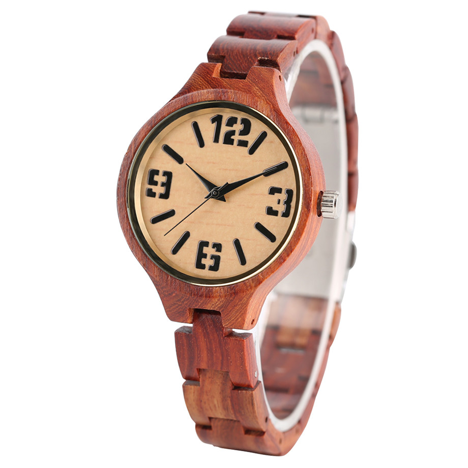 quartz full wood women watches02