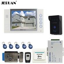 "JERUAN 8"" video door phone doorbell intercom system home access control system RFID video recoreding+power supply FREE SHIPPING"