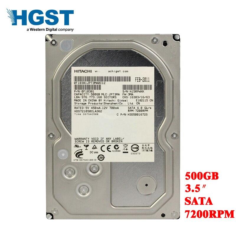 Hgst 500 gb desktop computador 3.5