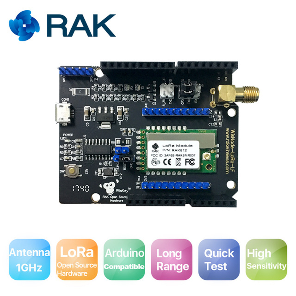 Q144 RAK812 WisNode Lora-LF Module Development Test Board Compatible TTN Arduino Open Source LoRa Extension Board fast free ship electronic diy programmable console open source game development board for arduino develop