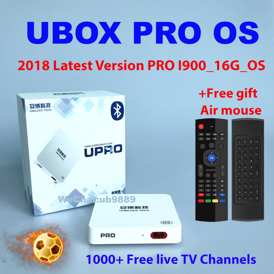 Unblock Tech UBOX PRO OS ubox4 BT Bluetooth 2018 Lates ubox pro version android free iptv 1000 Live TV Channels 4K 1080P HD UBTV