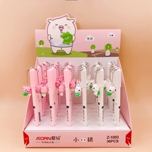 36Pcs Lovely Pet Pig Pendant Gel Pen Student Signature Pen Escolar Papelaria School Office Supply Promotional Gift Stationery 0 5mm clover pendant gel ink pen marker pen school office stationery supply escolar papelaria student