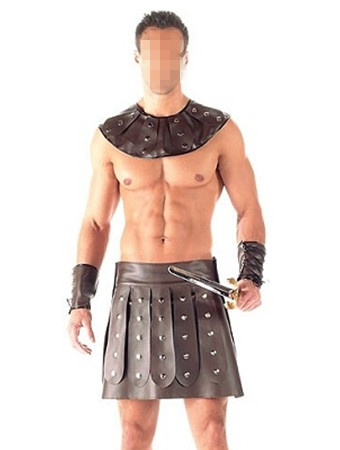 Plus Size LeatherSexy Men's Ancient Rome Warrior Costume Cosplay per - Costumi di carnevale
