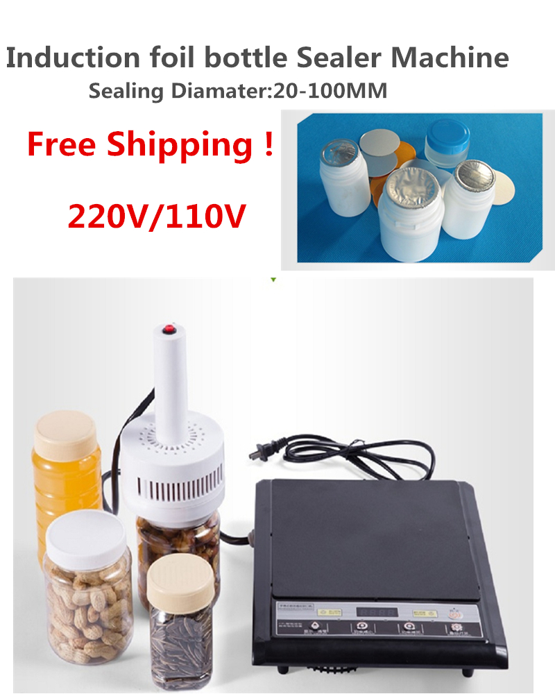 Free Shipping Portable Electromagnetic Induction Aluminum Foil Sealing Machine ,induction Sealer Machine20-100mm
