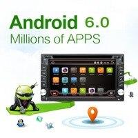 Android 6.0 Universal 2 din Car DVD Player Radio GPS Bluetooth de navegación doble din pantalla táctil de coches stereo RDS analógico TV