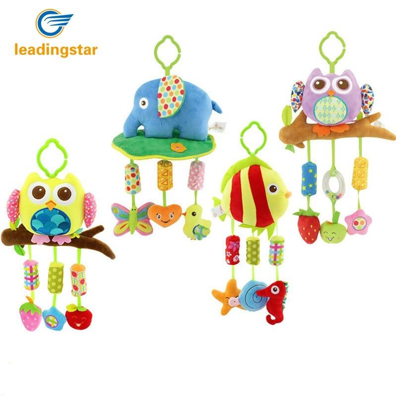 LeadingStar Baby Toys 0-12 Month Infant Stroller Hanging Cot Crib Mobile Rattles Teether Educational Dolls For Children Newborn