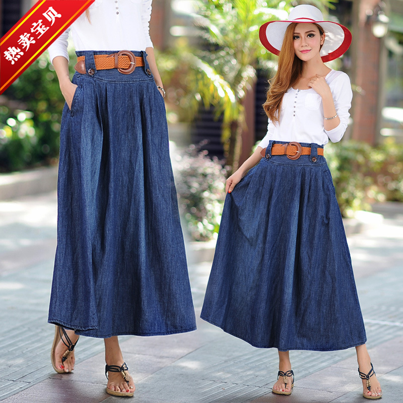 Compare Prices on Girls Long Denim Skirt- Online Shopping/Buy Low ...