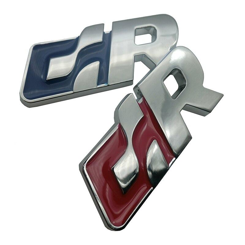 1 Uds metal 3D cromo GR R línea logotipo insignia emblema Rline pegatina de coche de carreras para VW Golf 5 5 5 6 6 7 Touareg Tiguan Passat B6 B7 Jetta