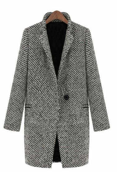 European and American women's high-end woolen trim and thick long-sleeve coat  093